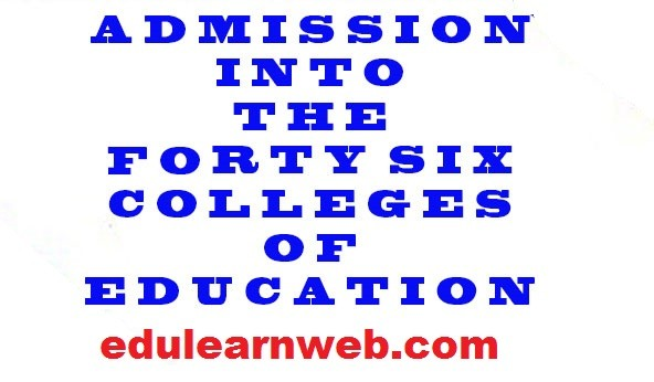 Colleges of Education Admission
