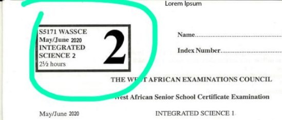 2020 WASSCE Integrated Science