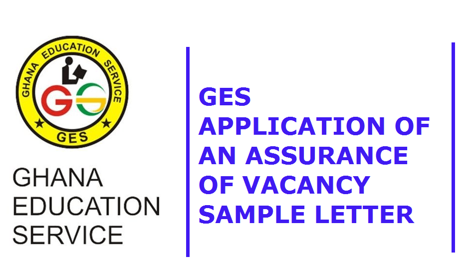 GES Assurance of Vacancy sample letter