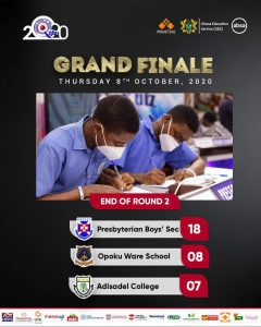 Scores of NMSQ Final 2020 Presec Legon leads after round 2
