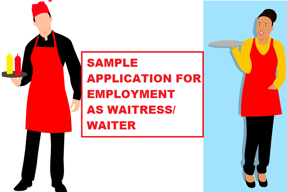 WaitressWaiter Sample Application letter