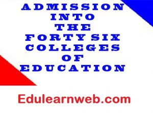 Free SHS Graduates: Apply for Colleges of Education Admission Now