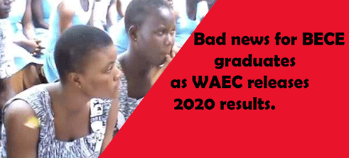 Bad news for 2020 BECE graduates as WAEC releases results